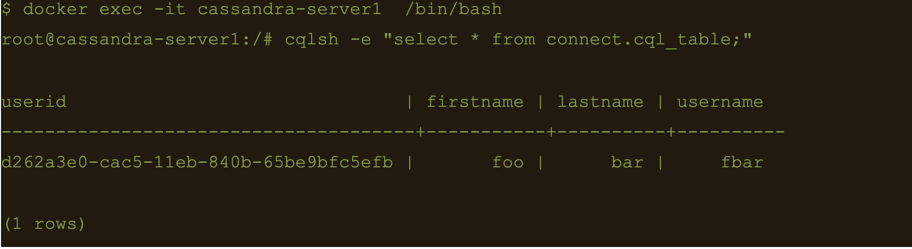 select * from connect.cql_table;